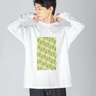 気ままに創作 よろず堂のサーヴィエ行進曲 若竹 Big silhouette long sleeve T-shirts