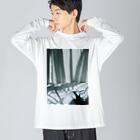 harucameraのharucamera dawn Big silhouette long sleeve T-shirts