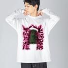 安里アンリの古墳グッズ屋さんのヒシアゲ古墳(平城坂上陵) Big silhouette long sleeve T-shirts
