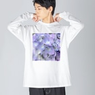 johnny's martの紫陽花 Big silhouette long sleeve T-shirts
