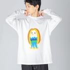 satomimitsukiのカラフルアマビエちゃん Big silhouette long sleeve T-shirts