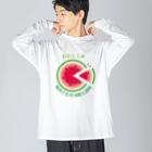 *suzuriDeMONYAAT*のCT36!スイカの輪切り Big silhouette long sleeve T-shirts