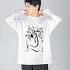 unicorn2018のu118 Big silhouette long sleeve T-shirts