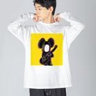 Dr.イエロー46の高速スラップベーシスト Big silhouette long sleeve T-shirts
