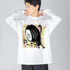 Dr.イエロー46の歌えない Big silhouette long sleeve T-shirts