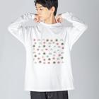 点心夫婦商店のあつまれ点心 Big silhouette long sleeve T-shirts