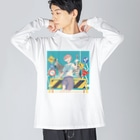 相転移スイッチの横断歩道 Big silhouette long sleeve T-shirts