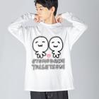 わたくしのお店のOTOMODACHI TAISETSUNI Big silhouette long sleeve T-shirts
