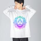 ターバンさんの曼荼羅風ターバンさん2 Big silhouette long sleeve T-shirts