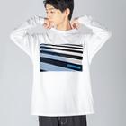 photo-kiokuの横断歩道 Big silhouette long sleeve T-shirts