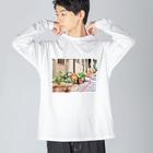 oshirino__anaの九份わんちゃん Big silhouette long sleeve T-shirts