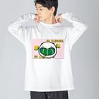 ダイナマイト87ねこ大商会のNO KABOCHA NO LIFE Big silhouette long sleeve T-shirts