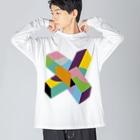 ゴロ展のグッズ 入船ゴローのBIG ロング ゴロT/a_006(トリミングシリーズ) Big silhouette long sleeve T-shirts