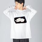 botiboti_storeの眠るうさぎ Big silhouette long sleeve T-shirts