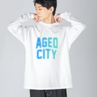 JIMOTO Wear Local Japanの上尾市 AGEO CITY Big silhouette long sleeve T-shirts