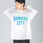 JIMOTO Wear Local Japanの桑名市 KUWANA CITY Big silhouette long sleeve T-shirts
