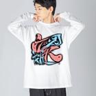 シノアの因果応報。(いんがおうほう) Big silhouette long sleeve T-shirts