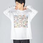 あらゐけいいちの108 Big silhouette long sleeve T-shirts