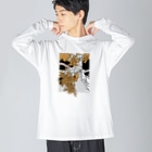 _anの銀杏 Big silhouette long sleeve T-shirts