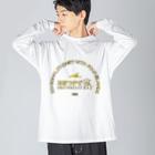 米田淳一未来科学研究所ミュージアムショップ(SUZURI支店)の「あまつかぜ改」ロゴシリーズ Big silhouette long sleeve T-shirts