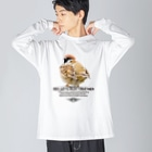 aliveONLINE SUZURI店の一緒に遊ぼう! 2021 #002 Big silhouette long sleeve T-shirts