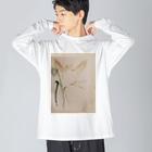 sayuのdrawing Big silhouette long sleeve T-shirts