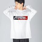 水墨絵師 松木墨善の鳳凰図 Big silhouette long sleeve T-shirts