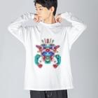 カズシフジイのゴーレンジャーレッド Big silhouette long sleeve T-shirts