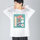 週末北欧部のHAVE A NICE SUSHI Big silhouette long sleeve T-shirts