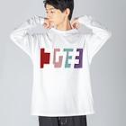 東京Tシャツ 〈名入れ・イニシャルグッズ〉のユウキさん名入れグッズ(カタカナ)難読? 苗字  Big Silhouette Long Sleeve T-Shirt