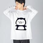 SUZURI×ヤマーフのムーネフ Big silhouette long sleeve T-shirts