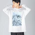 白上ルーネのアース Big silhouette long sleeve T-shirts