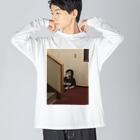 一条の何も考えてない一条 Big silhouette long sleeve T-shirts