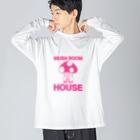 a-koのきのこの家 Big silhouette long sleeve T-shirts