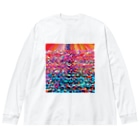 カヨラボの珊瑚礁/カヨサトーTX Big silhouette long sleeve T-shirts