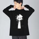 えるいーのロゴ入りぱぶりくんロングTシャツ(ビッグシルエット) Big silhouette long sleeve T-shirts