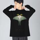 913WORKS WEB SHOP SUZURIのオナガミズアオの両面ロングスリーブ Big silhouette long sleeve T-shirts