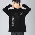 MicaPix/SUZURI店のMajoMica-DotMode(1面プリント) Big Long Sleeve T-shirt