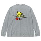 akane_artの【バックプリント】フルーツチワワ Big silhouette long sleeve T-shirts