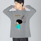 花くまゆうさくのJUICE(ジュース)2 Big silhouette long sleeve T-shirts