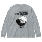 planetNITのカリガリ博士 Big silhouette long sleeve T-shirts