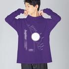 CoCoCotのJupiter/木星<みたか太陽系ウォーク応援!> Big silhouette long sleeve T-shirts