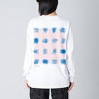 ki_moiの十六寿図 Big silhouette long sleeve T-shirts