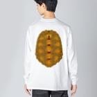 みのじのニホンイシガメ Big silhouette long sleeve T-shirts