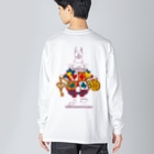 中島みなみのAlice White Rabbit アリスの白ウサギ Big silhouette long sleeve T-shirts