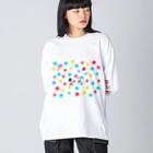 花くまゆうさくのボルダリング Big silhouette long sleeve T-shirts