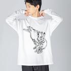 HOUSOの鳥獣戯画現代版 組体操 Big Silhouette Long Sleeve T-Shirt