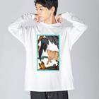 シロクマ商店の迷子のイノシシ Big silhouette long sleeve T-shirts