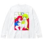 虹の真下の林の風邪気味ですTシャツを着た子 Big silhouette long sleeve T-shirts