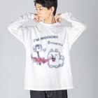 *suzuriDeMonyaa.tag*のCT47 POMERA_3 I'M WORKING Big silhouette long sleeve T-shirts